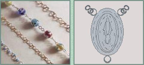 chaine beads rosary 2 mm